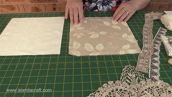 shab chic quilt memory quilt tutorial alanda craft Beautiful Stylish Quilt Cut Fabric Cutting System Ideas Inspirations