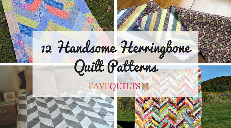 Stylish 12 handsome herringbone quilt patterns seams and scissors 11   Herringbone Quilt Pattern Gallery