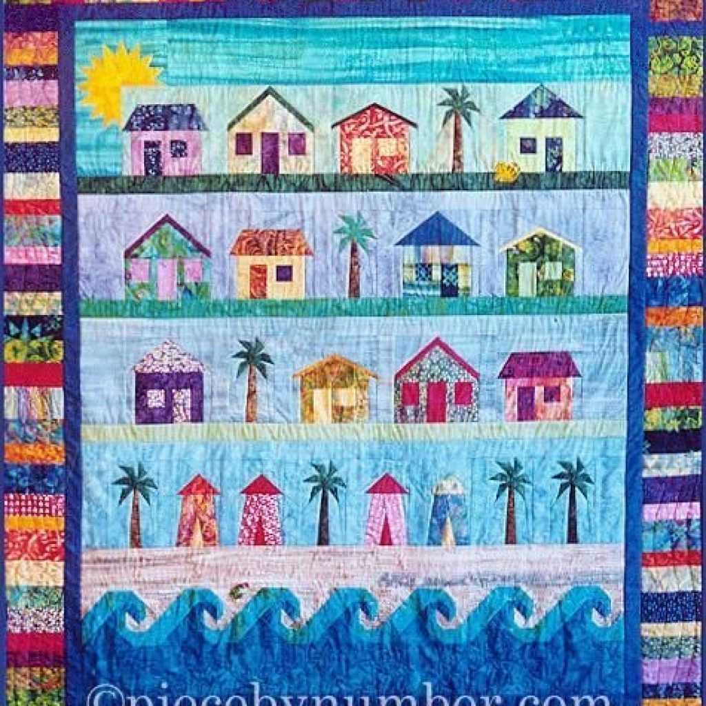 Stylish 6 beach themed quilts for fun in the sun beach quilt Cool Beach Themed Quilt Patterns