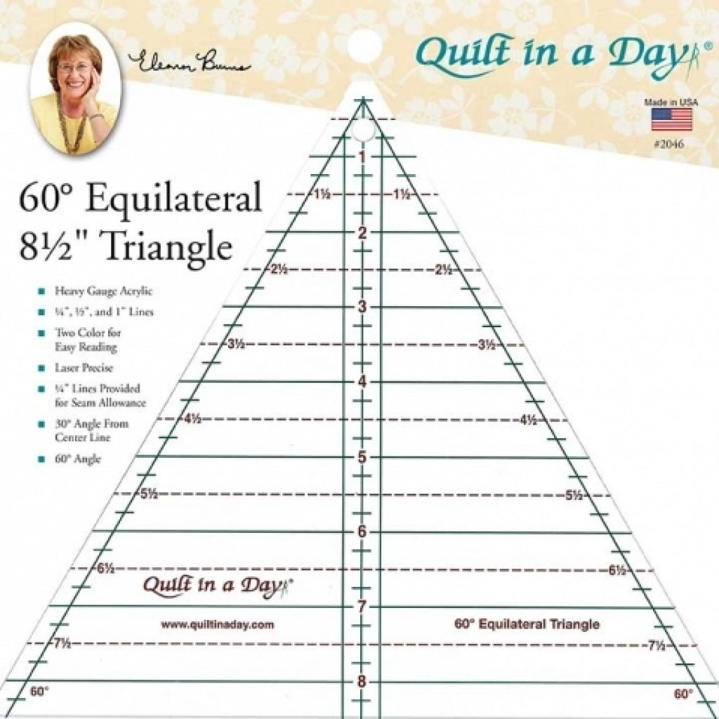 Stylish 60 degree 85 inch triangle ruler quilt in a day 10   60 Degree Triangle Quilting Ruler Inspirations