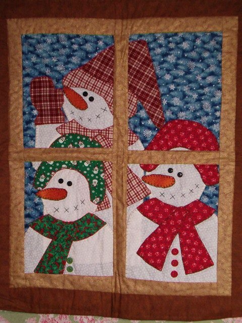 Stylish 8 snowman quilt patterns christmas quilts christmas 11 Stylish Snowman Quilt Pictures