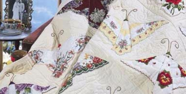 Stylish a charming vintage hankie butterfly quilt quilting cub 10 Beautiful Handkerchief Butterfly Quilt Pattern