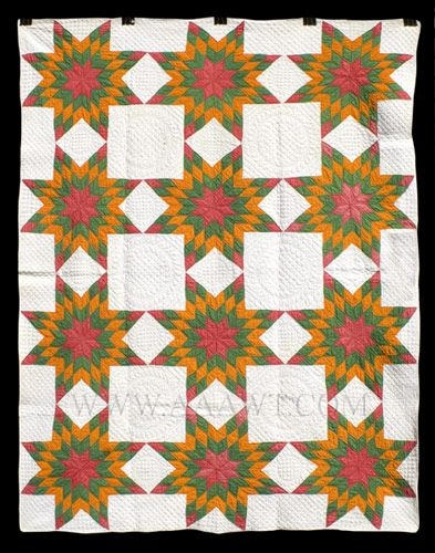 Stylish antique quilt mennonite star pattern circa 1900 quilts 11 Elegant Mennonite Quilt Patterns Inspirations