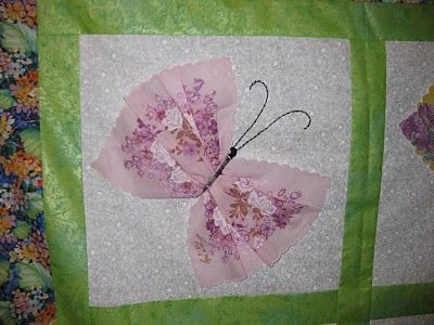 Stylish apple country quilters january show and tell vintage 10 Beautiful Handkerchief Butterfly Quilt Pattern