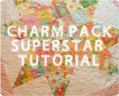 Stylish charm pack superstar quilt 627handworks 9 Beautiful Quilt Patterns Using Charm Squares Inspirations