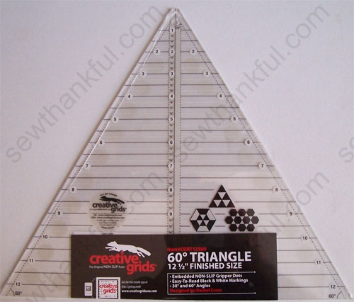 Stylish creative grids cgrt12560 12 12 12 9 Elegant 60 Degree Triangle Quilting Ruler Gallery