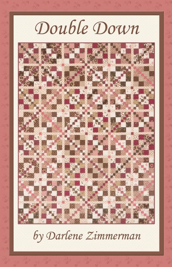 Stylish double down quilt pattern darlene zimmerman pink and brown version or scrappy pre cut friendly 9 Interesting Hummingbird Quilt Pattern By Darlene Zimmerman