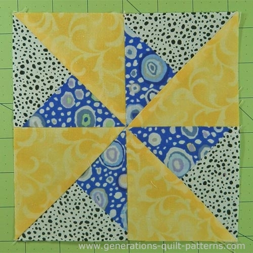 Stylish double pinwheel quilt block 3 4 5 6 and 8 block sizes 9 Unique Pinwheel Quilt Block Pattern Gallery