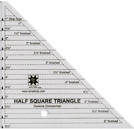 Stylish ez quilting angle ruler half square triangle 6 clear 10 Cool Quilting Triangle Ruler
