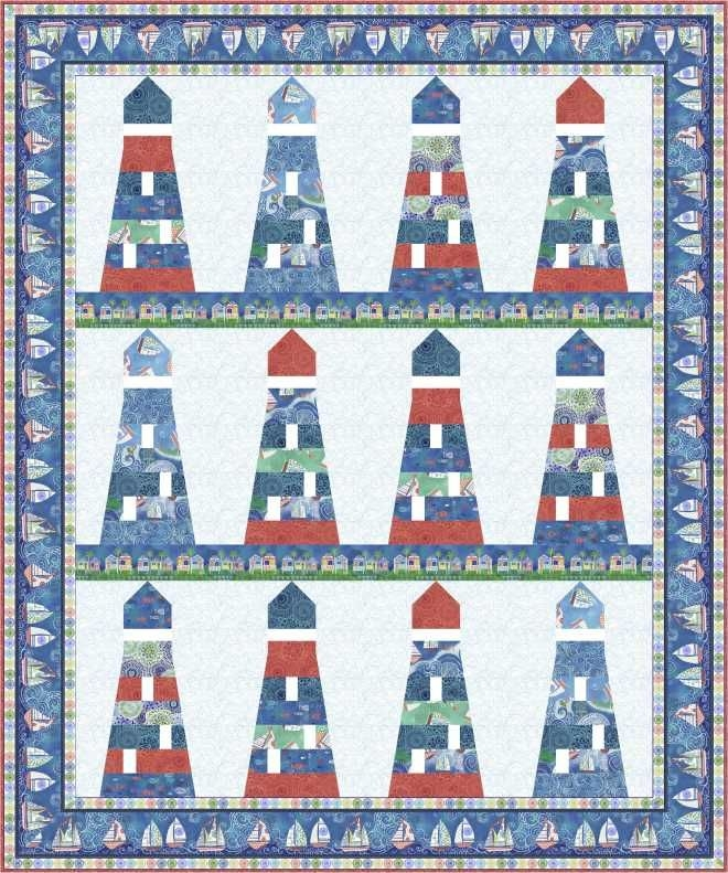 Stylish free pattern dream boat nautical quilt boat quilt ocean 9 Cool Lighthouse Quilt Patterns Gallery