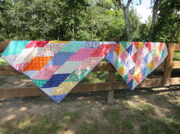 Stylish free pattern fat eighth frenzy moda 9 Modern Quilt Patterns Using Fat Eighths