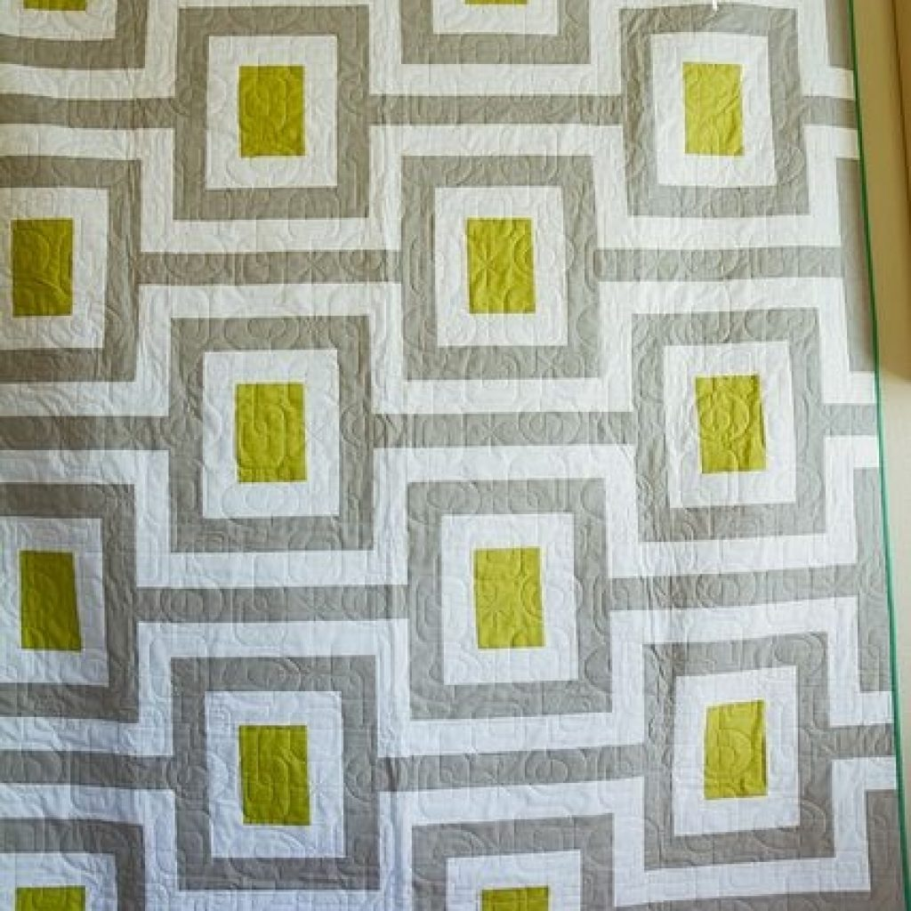 Stylish great midcentury quilt pieced sarah huechtman quilted Modern Vintage Modern Quilts Inspirations
