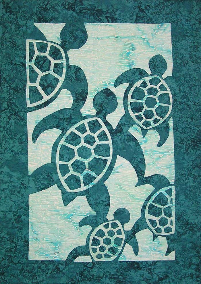 Stylish hawaiian quilt patterns pacific rim quilt company 10   Hawaiian Sea Turtle Quilt Patterns