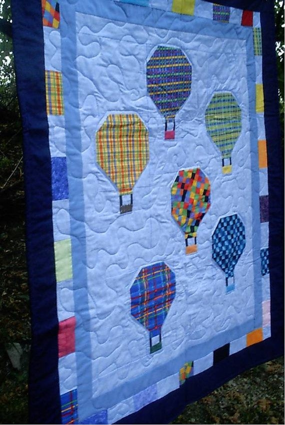 Stylish hot air balloon quilt or wallhanging balloons balloon 11   Hot Air Balloon Quilt Pattern