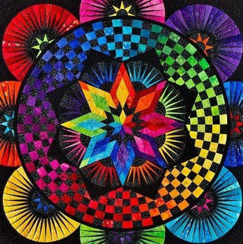 Stylish jdj circle of life pattern only paper piecing quilt Circle Of Life Quilt Pattern