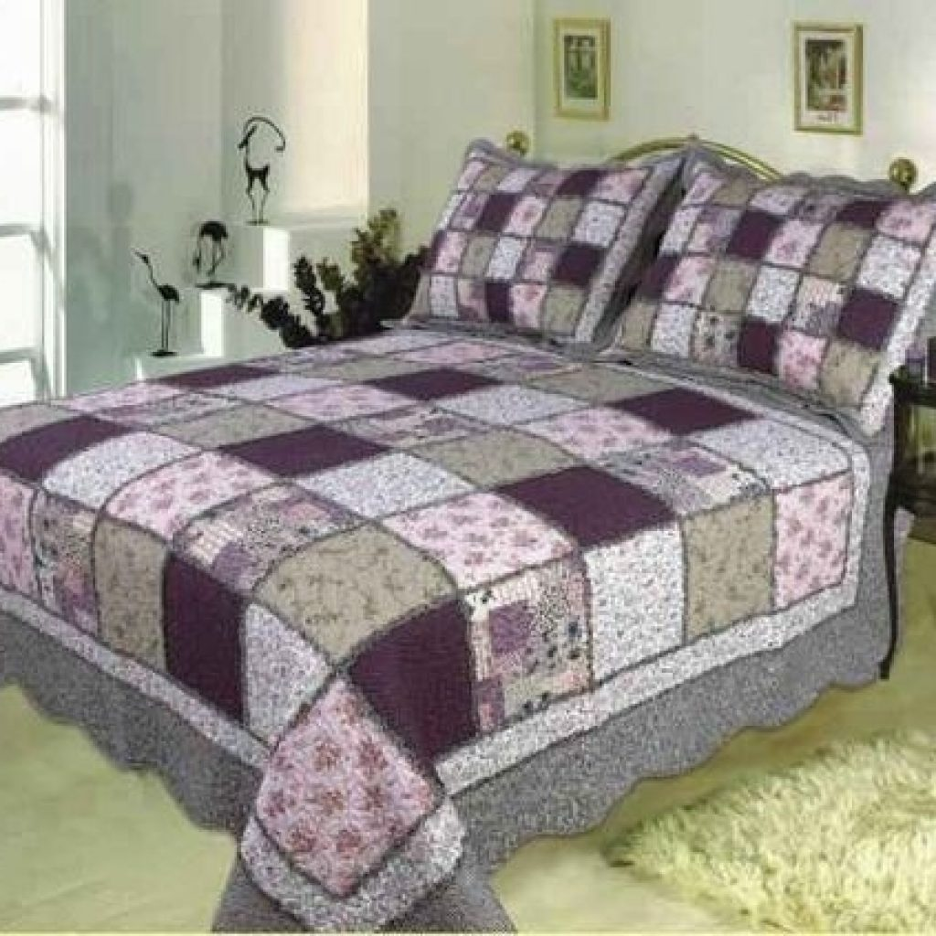 Stylish king sized quilt patterns home quilts king size sugar plum Cozy King Size Patchwork Quilt Pattern