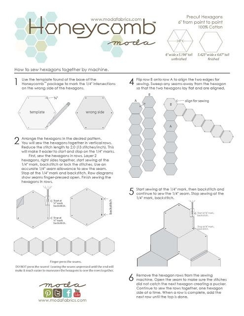 Stylish moda announced theyre going to make precut hexies they 11 Modern Tips On Sewing Hexagon Quilts Gallery