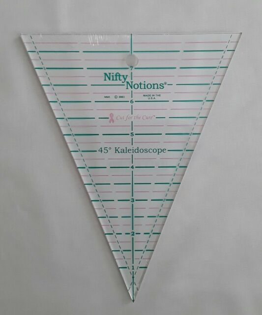 Stylish nifty notions 45 degree kaleidoscope triangle ruler cut for the cure 10 Cool Quilting Triangle Ruler