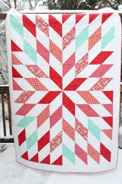 Stylish no point stars quilt free tutorial designed christie of 9 Interesting Free Half Square Triangle Quilt Patterns