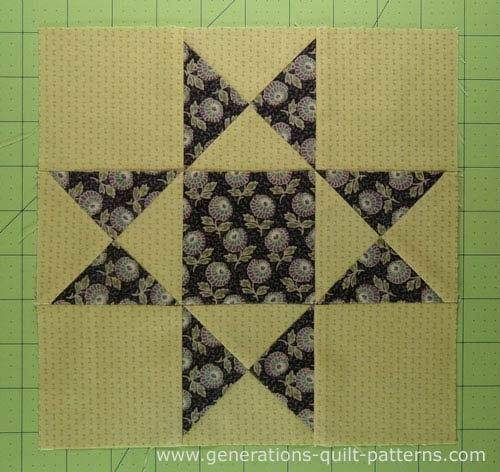 Stylish ohio star quilt block illustrated step step instructions 10   Generations Quilt Patterns Gallery