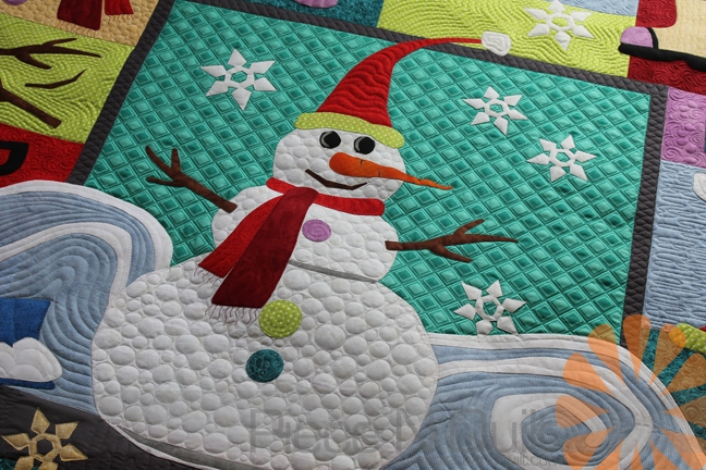 Stylish piece n quilt wanna build a snowman quilt custom machine 11 Stylish Snowman Quilt Pictures