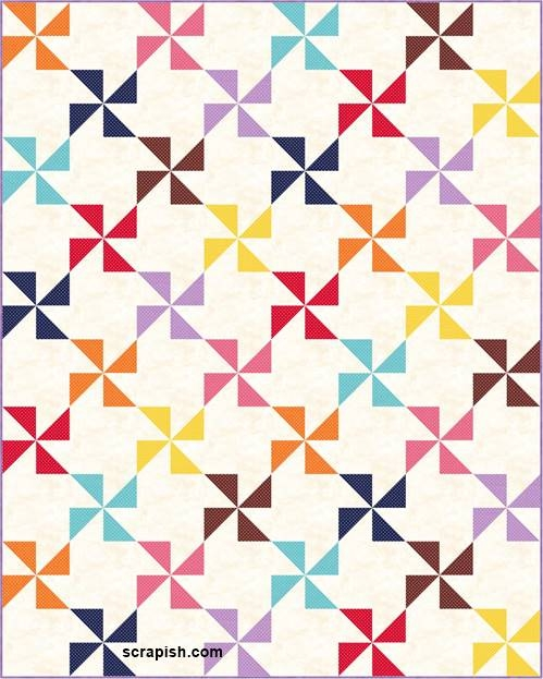 Stylish pinwheel quilt pattern tutorial for beginners Stylish Easy Pinwheel Quilt Pattern Gallery