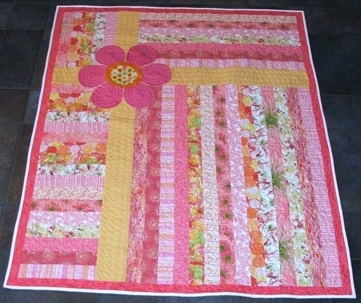 Stylish quick and easy quilt for a little girlmaybe a car free easy 9   Pinterest Easy Quilt Patterns Inspirations
