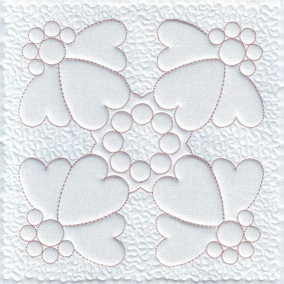 Stylish quilt embroidery heart machine embroidery design trapunto 9 Stylish Embroidery Patterns For Quilts Gallery