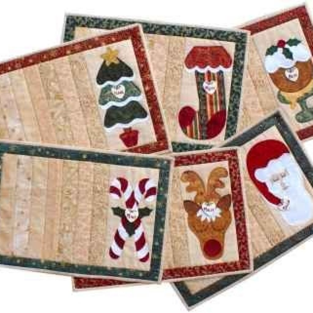 Stylish quilted placemats patterns free christmas projects nikki 9 Unique Quilted Christmas Placemat Patterns Free Inspirations
