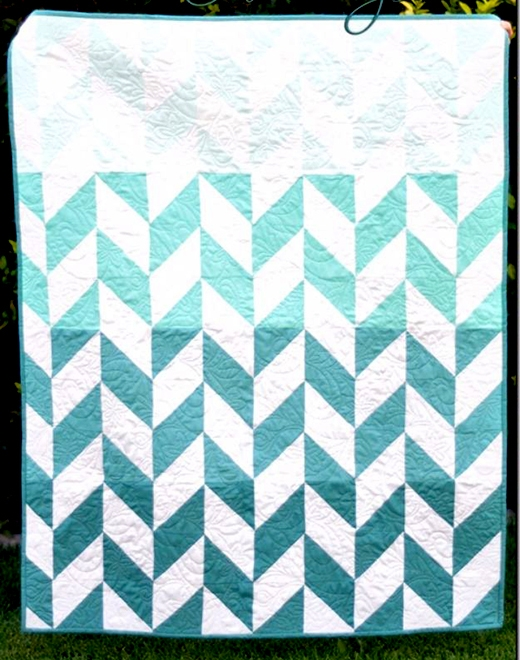 Stylish quilting land ombre herringbone quilt 11   Herringbone Quilt Pattern Gallery