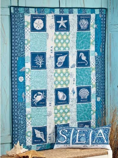 Stylish sandbox quilt pattern beach quilt ocean quilt beach Cool Beach Themed Quilt Patterns