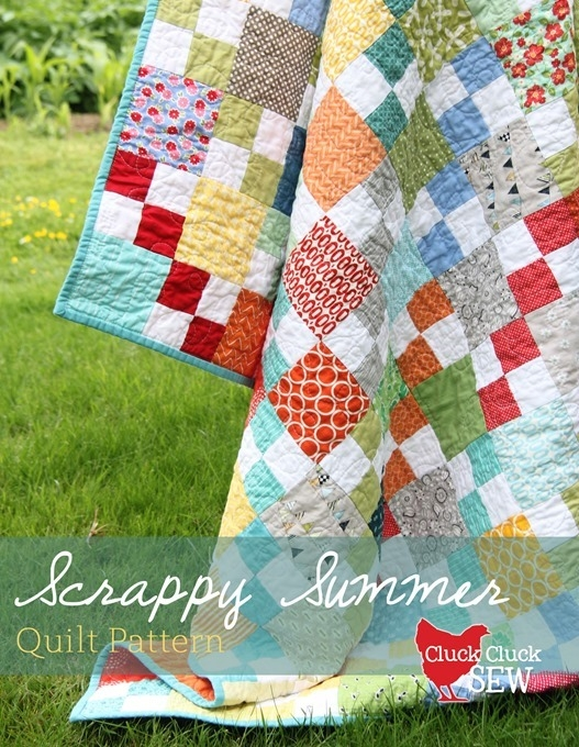 Stylish scrappy summer tutorial cluck cluck sew Cool Easy Scrappy Quilt Patterns Gallery