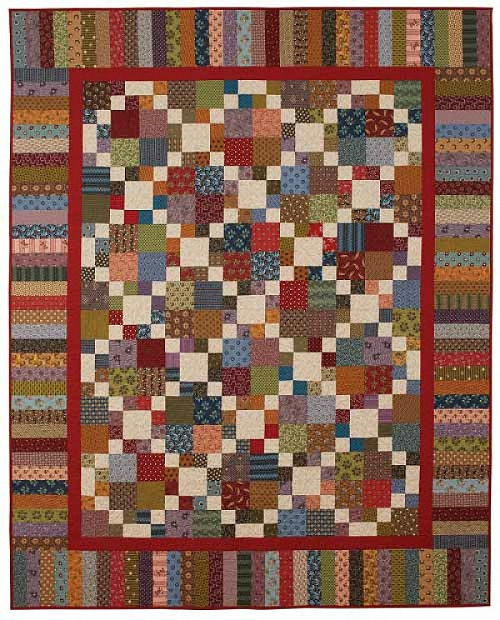 Stylish snuggle in this cozy quilt all year around quilting digest Beautiful Four Patch Quilt Patterns