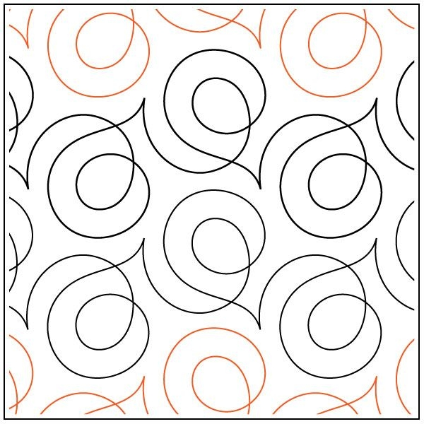 Stylish soho quilting pantograph pattern sarah ann myers 11 Stylish Pantograph Patterns For Longarm Quilting Gallery