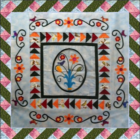 Stylish spring medallion twisted ribbon border lyn browns 11 Beautiful Twisted Ribbon Quilt Pattern Gallery