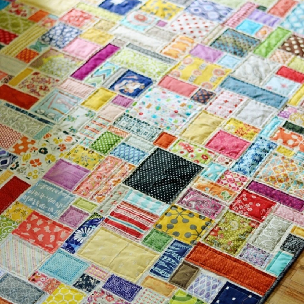 Stylish super scrappy soccer quilt the studio blog april 11 Cool Scrap Quilt Patterns For Beginners