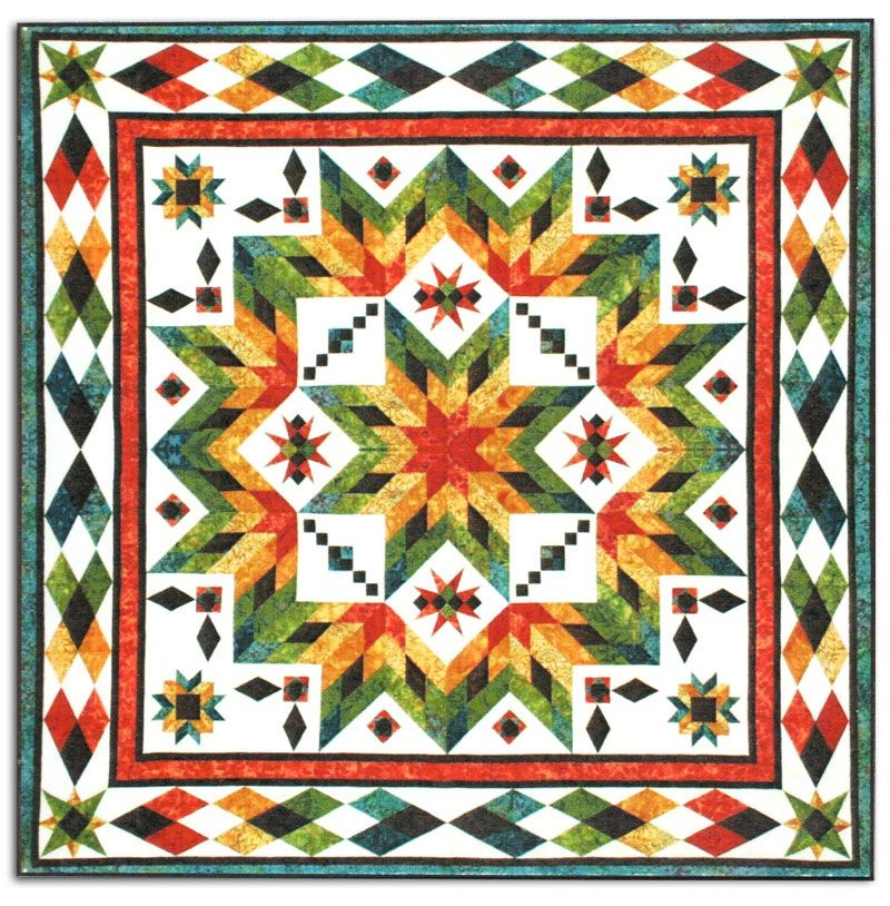 Stylish taos block of the month or all at once queenking size quilt 11   Quilting Ideas For Taos Block Of The Month Inspirations