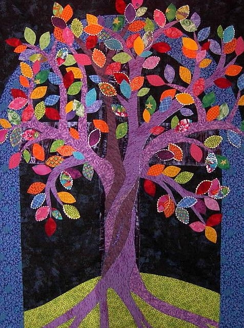 Stylish tree of life family tree quilt landscape quilts tree quilt 10 Unique Tree Of Life Quilt Pattern Applique Gallery