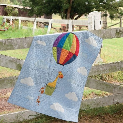 Stylish up up and away cot quilt 11   Hot Air Balloon Quilt Pattern