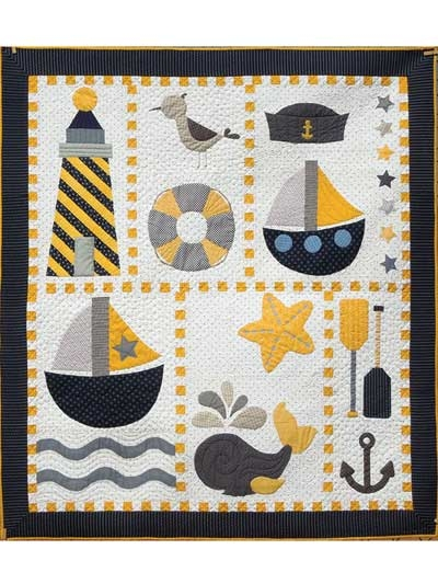 Unique ahoy quilt pattern 9 Stylish Nautical Quilts Patterns Gallery