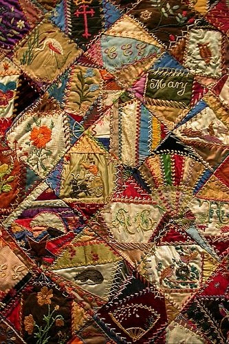 Unique crazy quilt 1 crazy quilts crazy patchwork quilts Modern Vintage Crazy Quilt Inspirations