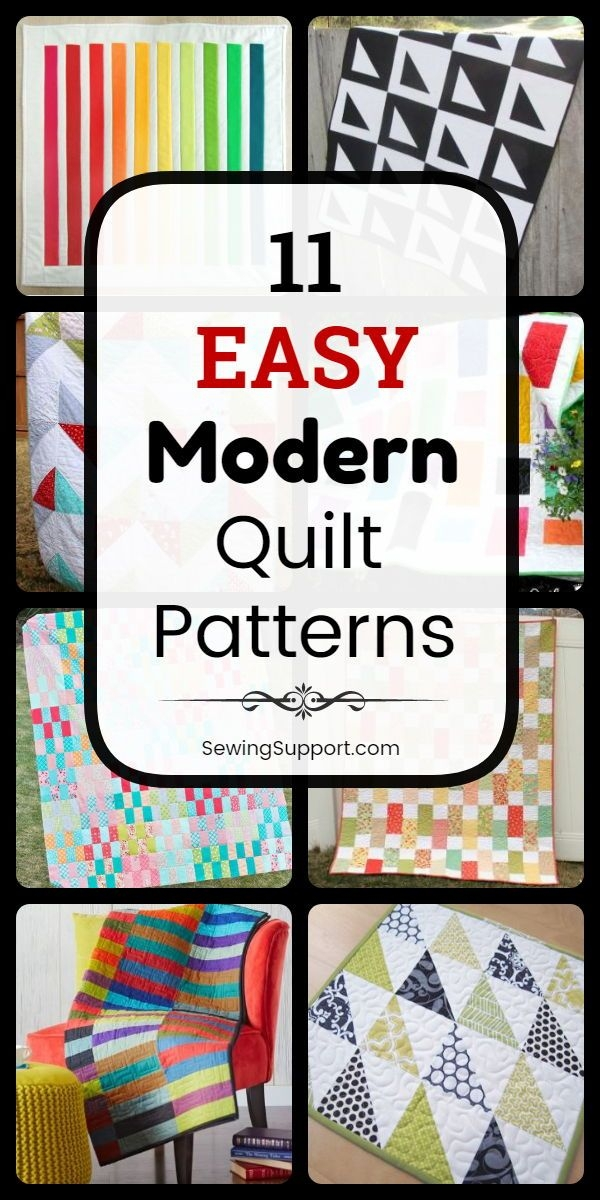 Unique easy quilt patterns for modern quilts eleven free and easy 11 Modern Easy Modern Quilt Patterns
