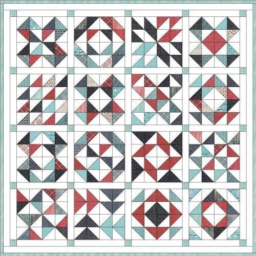 Unique feed company half square triangle quilt triangle quilt 9 Beautiful Triangle Quilt Blocks Inspirations