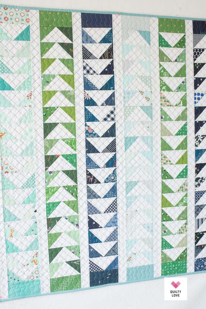 Unique flying a scrappy flying geese ba quilt quilty love 11 Stylish Flying Geese Quilt Pattern Instructions Inspirations