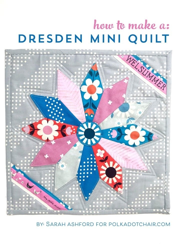 Unique free mini quilt pattern dresden plate quilt the polka dot 11 Interesting Dresden Plate Quilt Pattern Inspirations