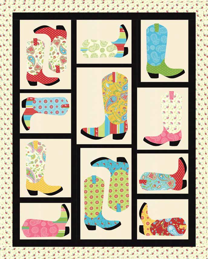 Permalink to 10 Modern Cowboy Boot Quilt Pattern Inspirations