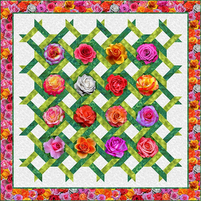 Unique free pattern rose trellis equilter blogequilter blog 9 Beautiful Garden Trellis Quilt Pattern Gallery