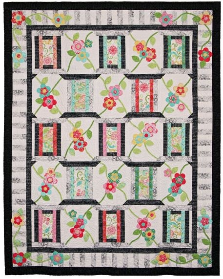 Unique garden trellis quilt pattern pad 157 vibrant colorful 9 Beautiful Garden Trellis Quilt Pattern Gallery