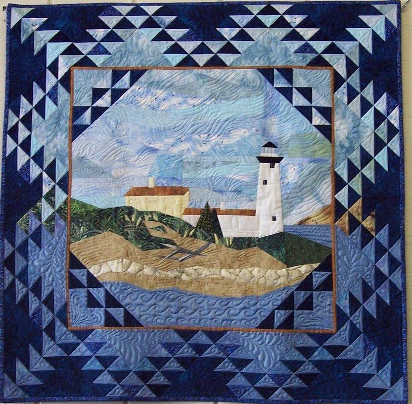 Unique lighthouse quilt horse quilt nautical quilt art quilts 9 Cool Lighthouse Quilt Patterns Gallery