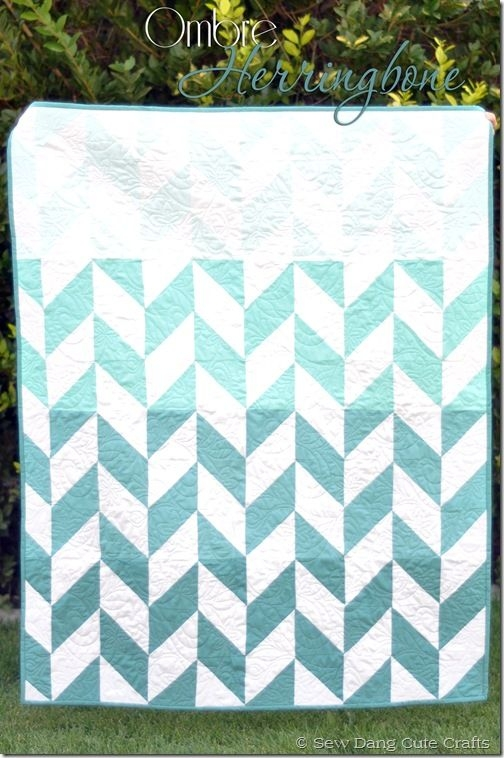 Unique ombre herringbone tutorial tam of sew dang cute 11   Herringbone Quilt Pattern Gallery
